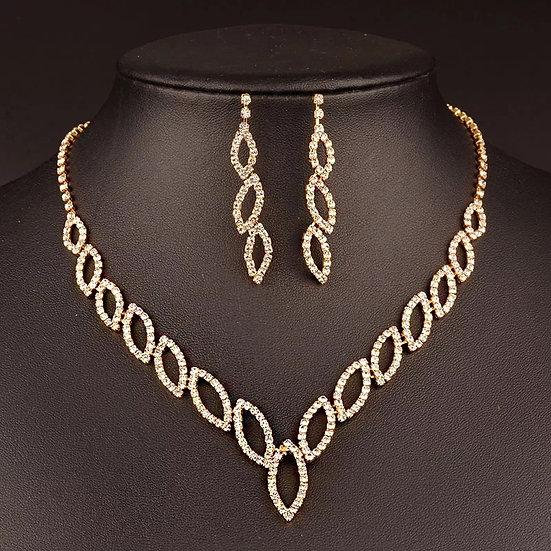 Diamond Link Necklace Set