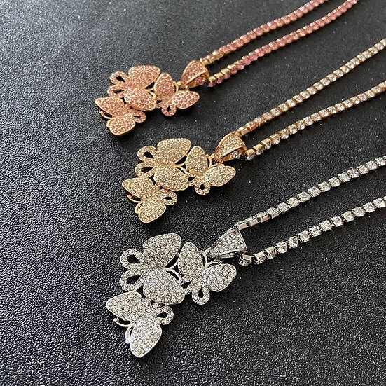 Bling Butterfly Necklace