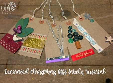 Decorated Christmas Gift Labels