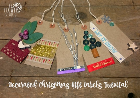 Decorated Christmas Labels