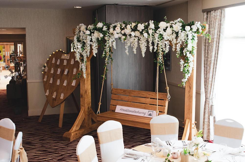 Traditional Oak Swing & The Flower Studio