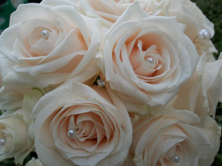 Classic Cream Roses and Pearls