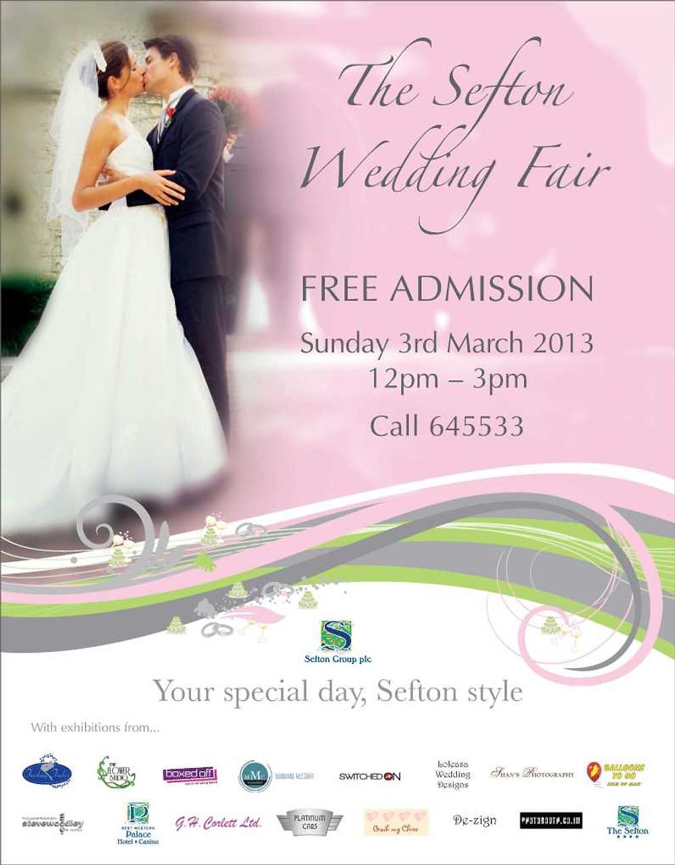 Sefton Wedding Fair Poster