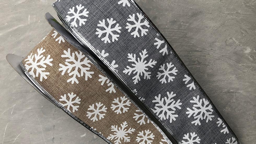 Wide Snowflake Ribbon