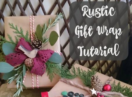 Rustic Gift Wrap Tutorial