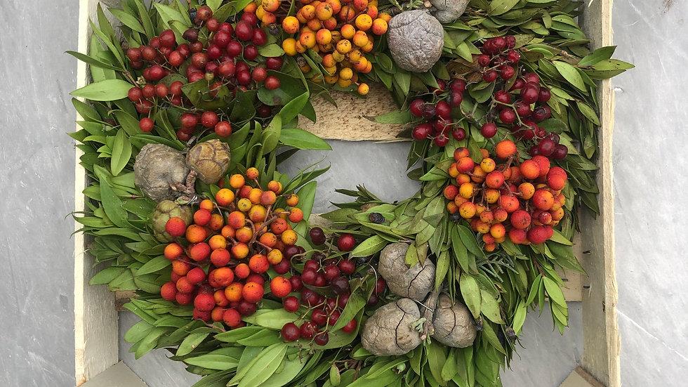 Ornamental Fruit Wreath