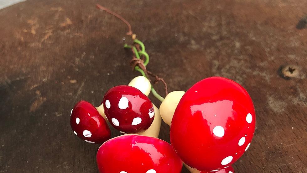 Mini toadstool decorations