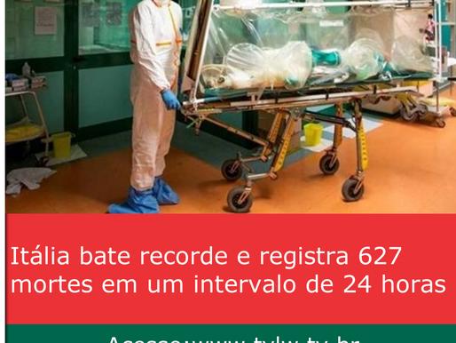 Itália bate recorde e registra 627 mortes em um intervalo de 24 horas