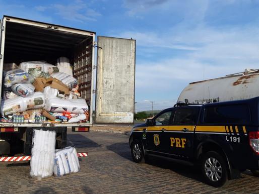 Carga roubada de loja de varejo em Serra Talhada é recuperada na BR-232, em Pesqueira