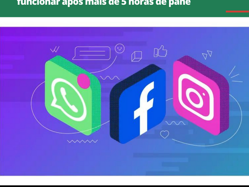 WhatsApp, Instagram e Facebook começam a funcionar após mais de 5 horas de pane