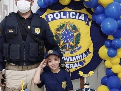 SONHO DE CRIANÇA: POLICIAIS RODOVIÁRIOS FEDERAIS PARTICIPAM DE FESTA DE ANIVERSÁRIO EM GARANHUNS