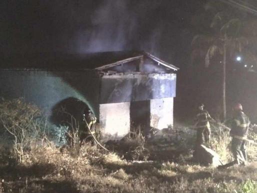 Depósito clandestino de fogos de artifício pega fogo na zona rural de Limoeiro, no Agreste