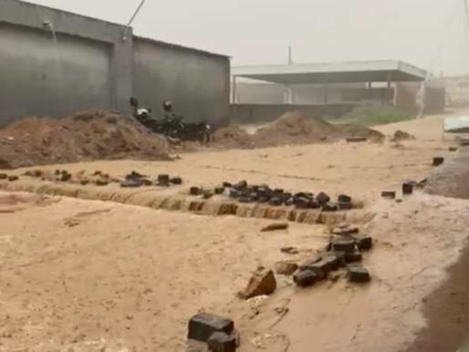 Fortes chuvas foram registradas em Arcoverde, no Sertão, e Angelim