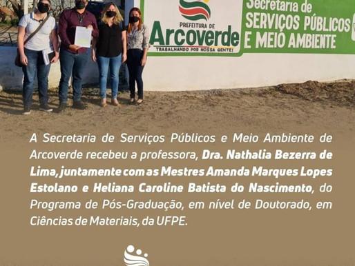 Secretaria de Serviços Públicos e Meio Ambiente recebe pesquisadoras da UFPE para parcerias em Arcov