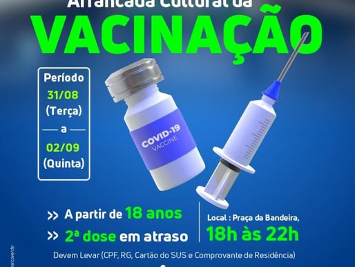 Arcoverde terá Arrancada Cultural da Vacinação para quem tem a partir de 18 anos e não se vacinou ou