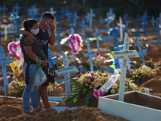 Covid-19: Brasil registra 4.249 mortes e bate novo recorde