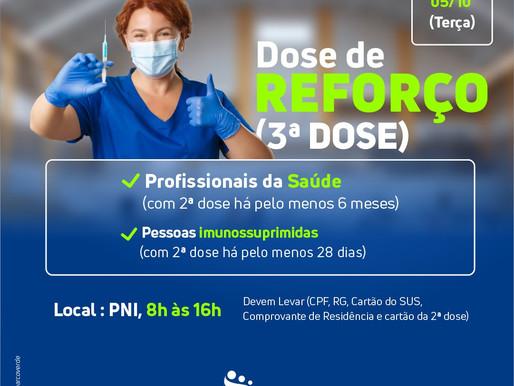 Arcoverde abre dose de reforço contra Covid-19 para profissionais da saúde, idosos com 60 anos ou ma