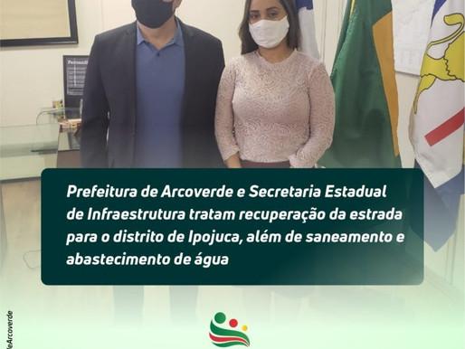 Prefeitura de Arcoverde e Secretaria Estadual de Infraestrutura tratam recuperação da estrada para I