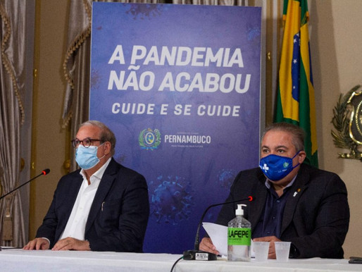 Em Pernambuco, desobrigação da máscara só será possível com avanço na vacinação