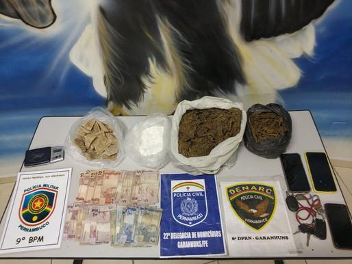 Operação conjunta em combate ao tráfico de drogas é realizada em Águas Belas