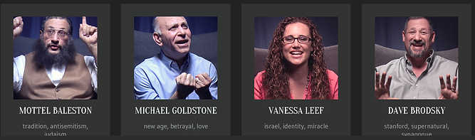 Images of Jewish people who gives testimonies on video