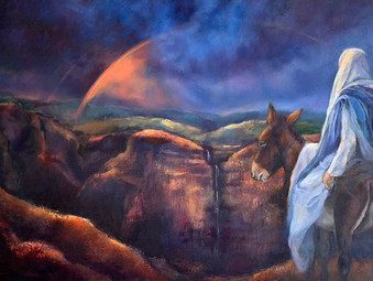 Behold your King! (Painting inspired by Zechariah 9:9-10)