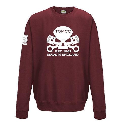 TOMCC Skull Sweatshirt. £22 + P&P