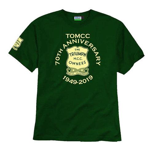 TOMCC 70th Anniversary T-shirt. £15 + P&P