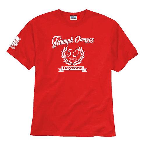 TOMCC Printed Daytona 50 Years T-shirt. £15 + P&P