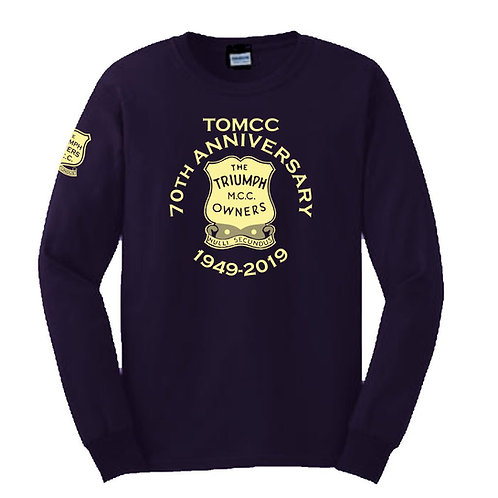 TOMCC Printed 70th Anniversary Long Sleeved T-shirt. £18 + P&P