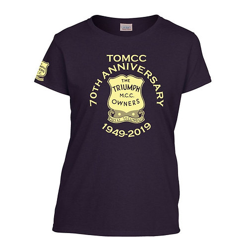 TOMCC 70th Anniversary Lady Fit T-shirt. £15 + P&P