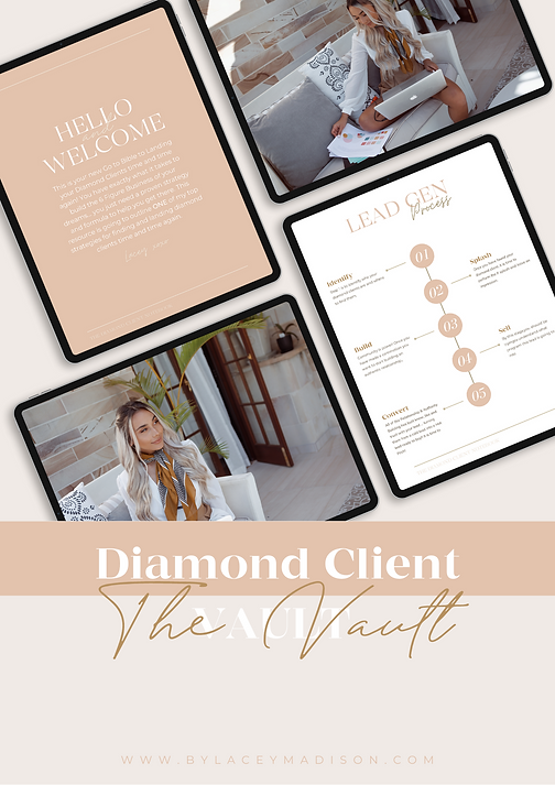 Diamond Client Vault | By Lacey Madison