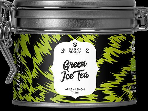 Thé vert glacé - saveur pomme/gingembre bio
