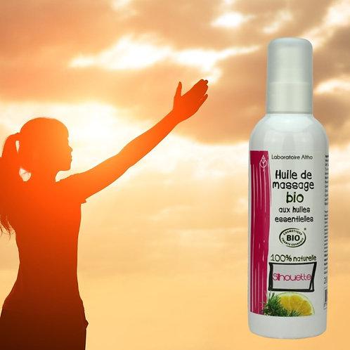 Huile de massage Silhouette bio