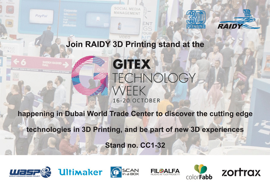 Raidy 3D Printing at GITEX Dubai, UAE