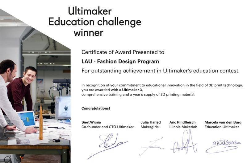Ultimaker Education Challenge Winner