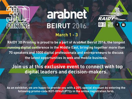 RAIDY at ARABNET 2016 conference!