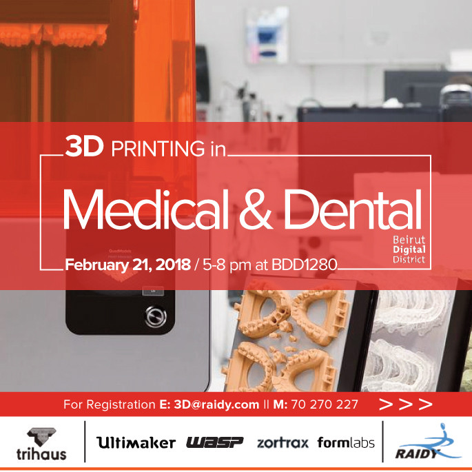 3D Printing in Medical & Dental