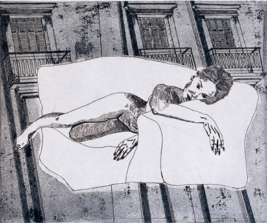 Etching on Zinc © Mariejoe RAIDY