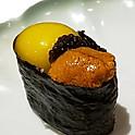 Sea Urchin with Quail Egg & caviar
