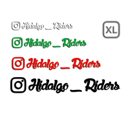 INSTAGRAM STICKERS x2 (1 color, talla XL)