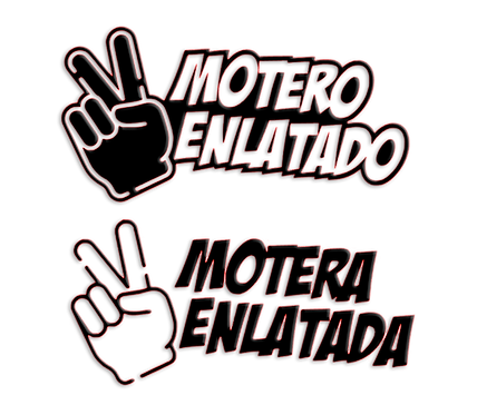 Moteros Enlatados Stickers x2 (1 color)