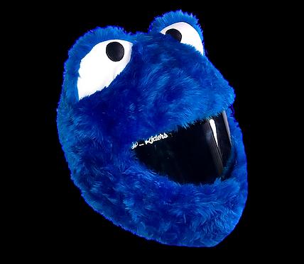 Blue Monster Helmet cover