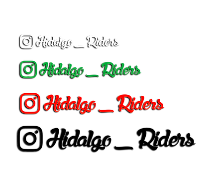 Instagram Stickers x2 (1 Colour)