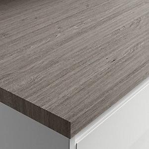 Square Edged Worktop - Silver Oak