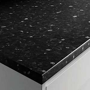 Postformed Worktop - Black Marble