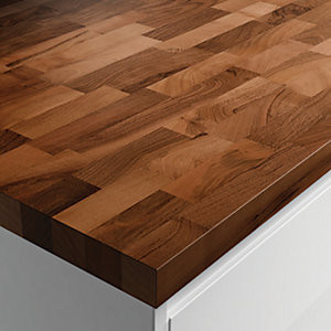 Solid Wood Worktop - Walnut