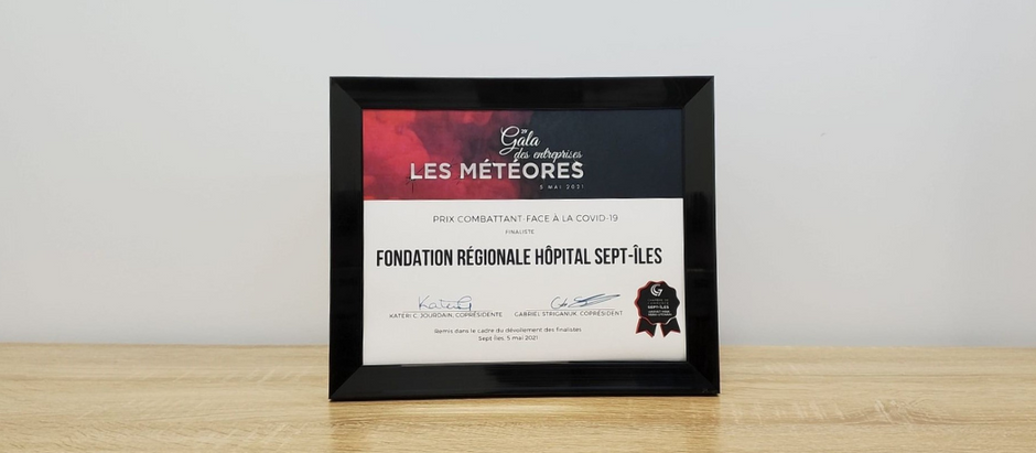 Nomination au Gala des entreprises « Les Météores »