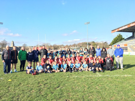 Girls Give Rugby a Try