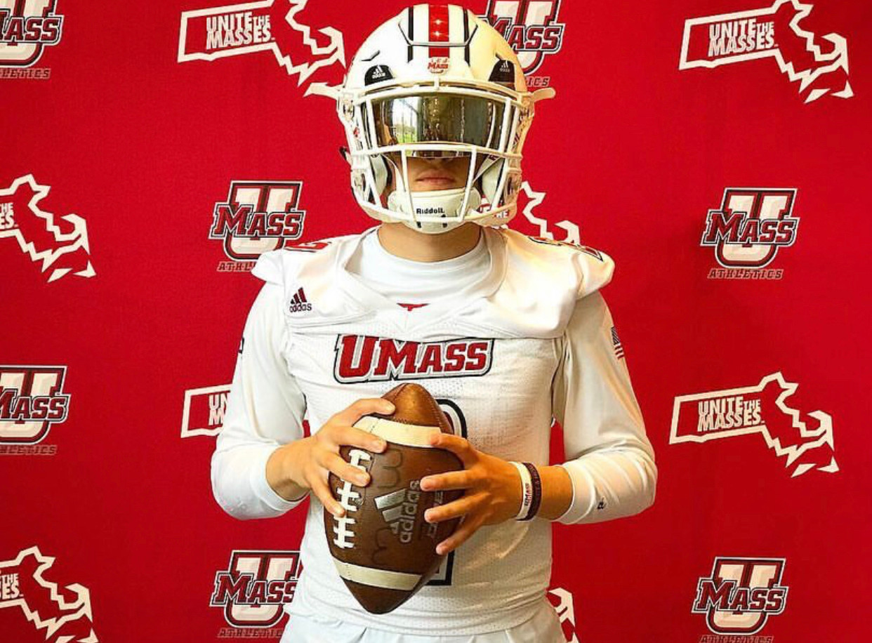 QB Ryan Cammas at the University of Mass
